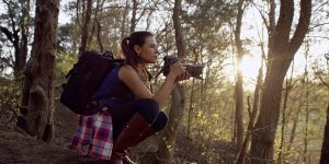 laura cope on location with hasselblad camera