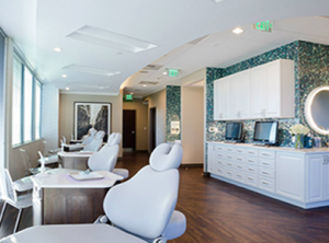 dental office design by interior designer with artwork by laura cope on wall