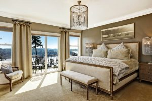 bedroom with rh furniture matching neutral tones