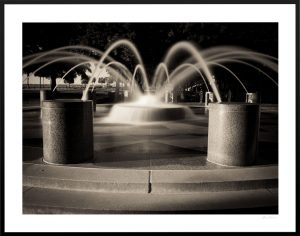 Charleston waterfront park fountain   framed