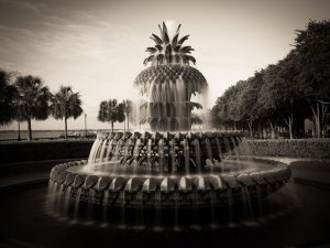 Charleston Pineapple fountain on waterfront park