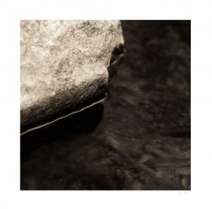 abstract macro photo of water and rock