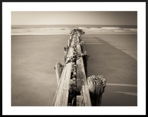 ruined ocean short pier in folly beach sc