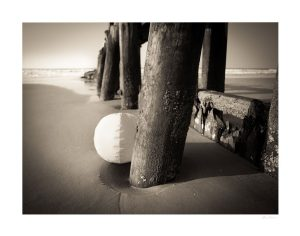 beach ball and pier at the isle of palms sc